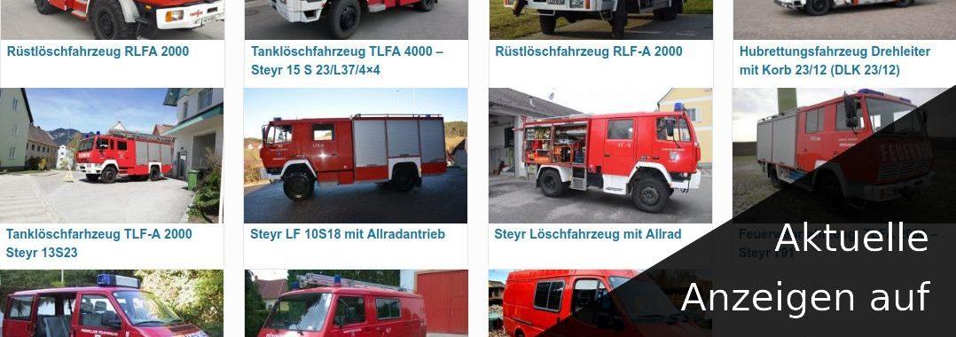 Aktuelle Anzeigen von gebrauchten Feuerwehrfahrzeugen auf GRISU-CAR.eu