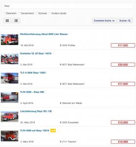 Suchergebnisse auf GRISU-CAR - Liste